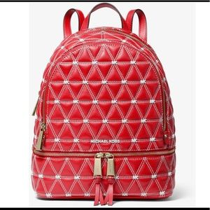 Michael Kors Medium Quilted Leather Bright Red